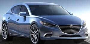 Фото Mazda 3 hatchback 2014 просочилась в отчете Bank of America.