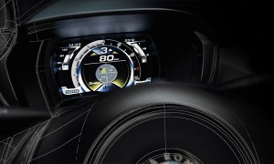 ЖК-монитор в Alfa Romeo 4C стал немного загроможденным, но показывает Вам все, что Вы должны знать.