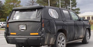 Cadillac Escalade 2014, шпионские снимки, вид сзади